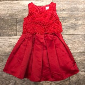Sweet Heart Rose Girl's Red Dress, Size 6X